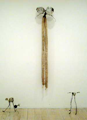 JADE PEGLER  Sculptures  2008/9 paper, textiles, wire, mixed media dimensions variable