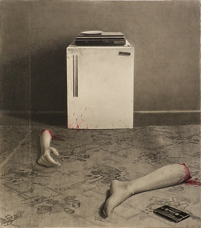 SIMON KENNEDY  These legs are not mine 2006 charcoal and watercolour on paper 75 ×67 cm