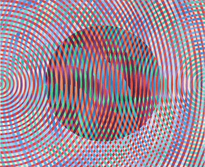 JOHN ASLANIDIS  Sonic Fragment No. 41  2008 oil and acrylic on canvas 66.5 × 81.5 cm