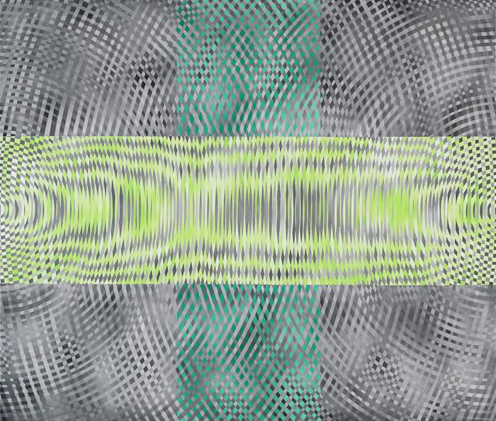 JOHN ASLANIDIS  Sonic intersection no.1  2008 acrylic on canvas 97 ×107 cm