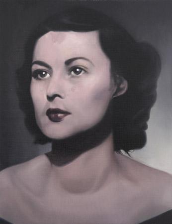 SIMON KENNEDY     Violette 2009 oil on canvas 30.5 × 45 cm