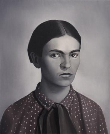 SIMON KENNEDY  Frida  2009 oil on canvas 45 ×56 cm