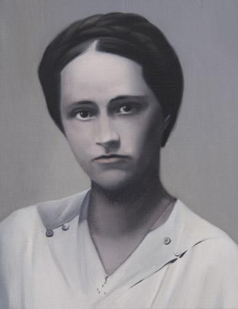 SIMON KENNEDY  Lilly 2009 oil on canvas 30.5 × 45 cm