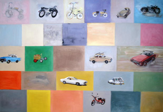 JELLE VAN DEN BERG  Transport 2  2008 oil on canvas 270 × 190 cm