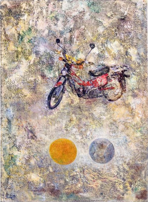 JELLE VAN DEN BERG  Postie  2000  oil on canvas 55 × 40 cm