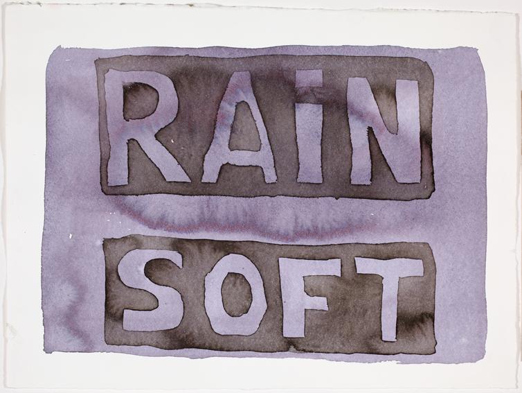 JELLE VAN DEN BERG  Rain Soft  2009 38 ×47 cm