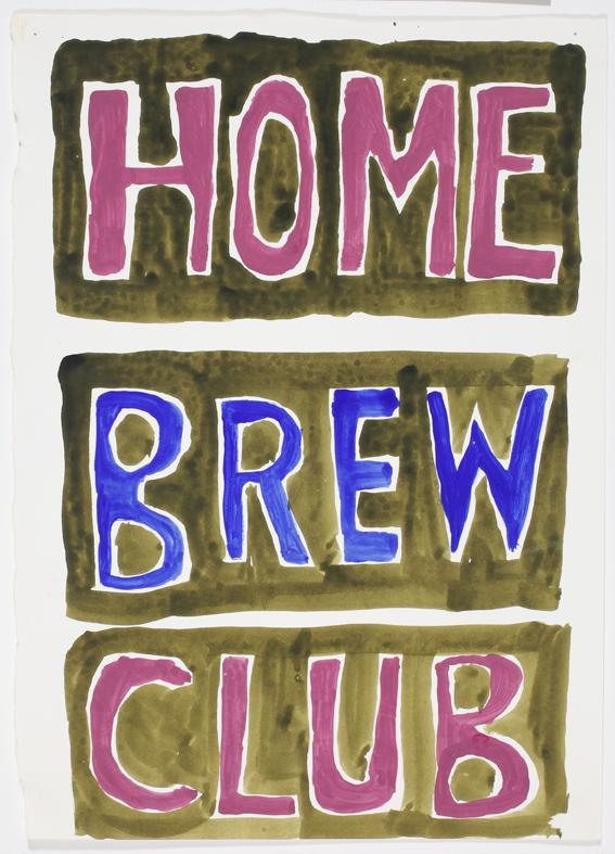 JELLE VAN DEN BERG  Home Brew Club  2009 44 ×34 cm