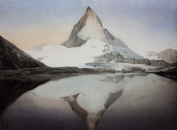 SIMON KENNEDY  Pointy Mountain  2011 Charcoal on paper  76 × 104 cm