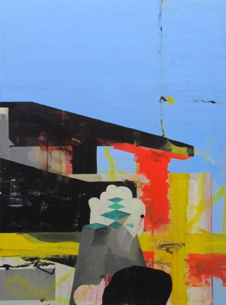 JULIAN HOOPER  Next of kin  2012  acrylic on linen 56 × 76 cm
