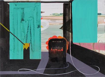JULIAN HOOPER  Verse  2012 acrylic on linen 56 × 76 cm