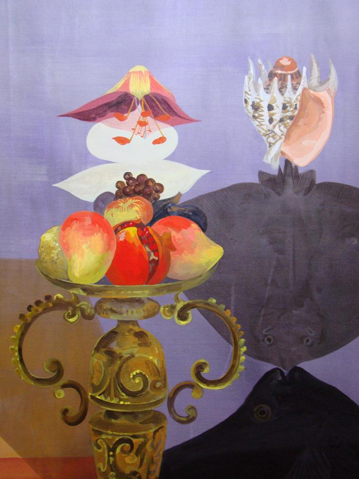JULIAN HOOPER  Florence and Siena  2010 acrylic on linen 180 ×130 cm