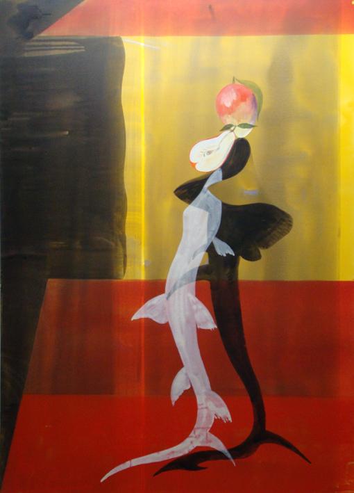 JULIAN HOOPER Nocturne  2010 acrylic on linen 180 ×130 cm