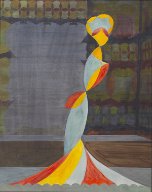JULIAN HOOPER  Countess 2008 acrylic on board 50 × 40 cm