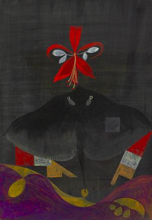 JULIAN HOOPER  Elokelo 2008 acrylic on paper 35 ×23 cm