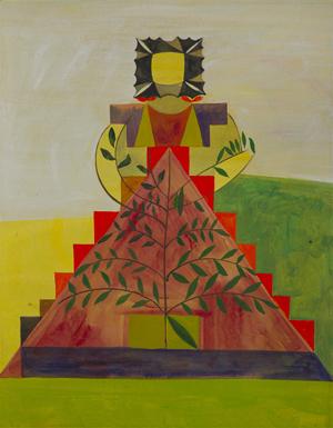 JULIAN HOOPER  Marama 2008 acrylic on paper 38 × 28 cm