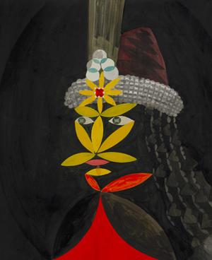 JULIAN HOOPER  Megmento  2008 acrylic on paper 51 × 43 cm