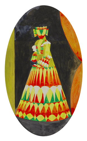 JULIAN HOOPER  Miss  2008 acrylic on paper 40 × 25 cm
