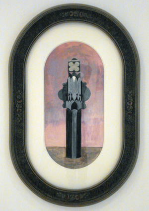 JULIAN HOOPER  Mister 2008 acrylic on paper 37 × 17 cm