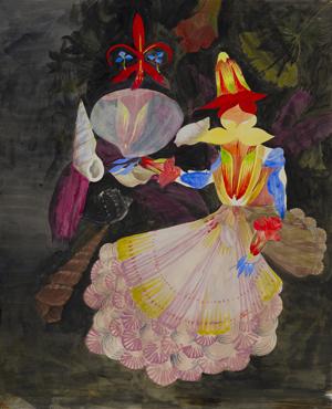 JULIAN HOOPER  Ongo me'a mali  2008 acrylic on paper 58 × 46 cm