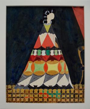 JULIAN HOOPER  Tehina 2008 acrylic on board 25 × 20 cm
