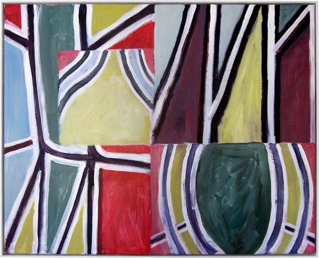 SIMON BLAU  Formwork  2012  acrylic on canvas 79.5 ×99.5 cm
