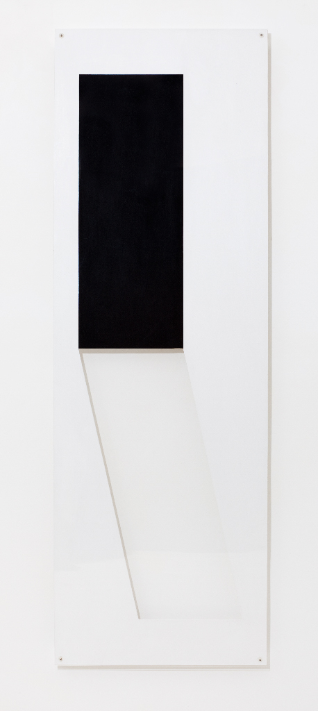 SIMON BLAU Shadow cut  2011  acrylic and Perspex over board 180 × 60 cm