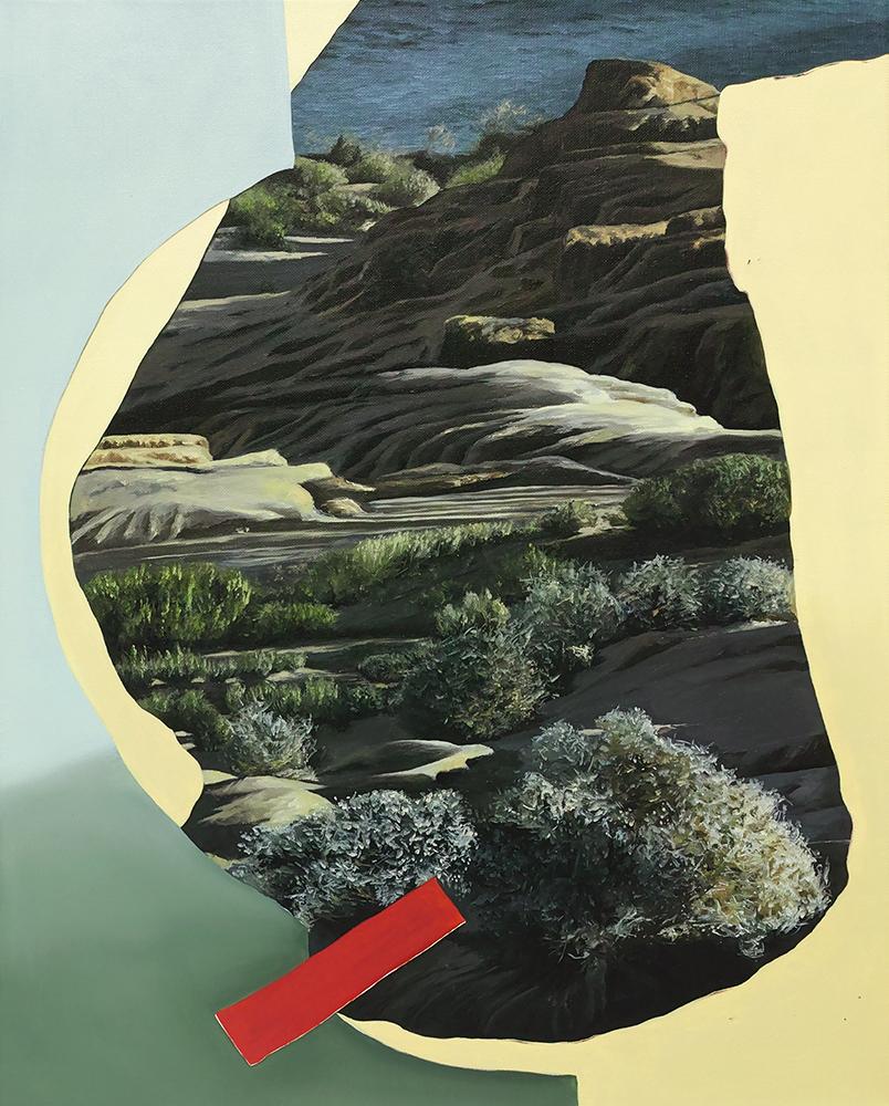 ALICE WORMALD  Within Scene 2018 oil on linen 53 × 43 cm (framed)