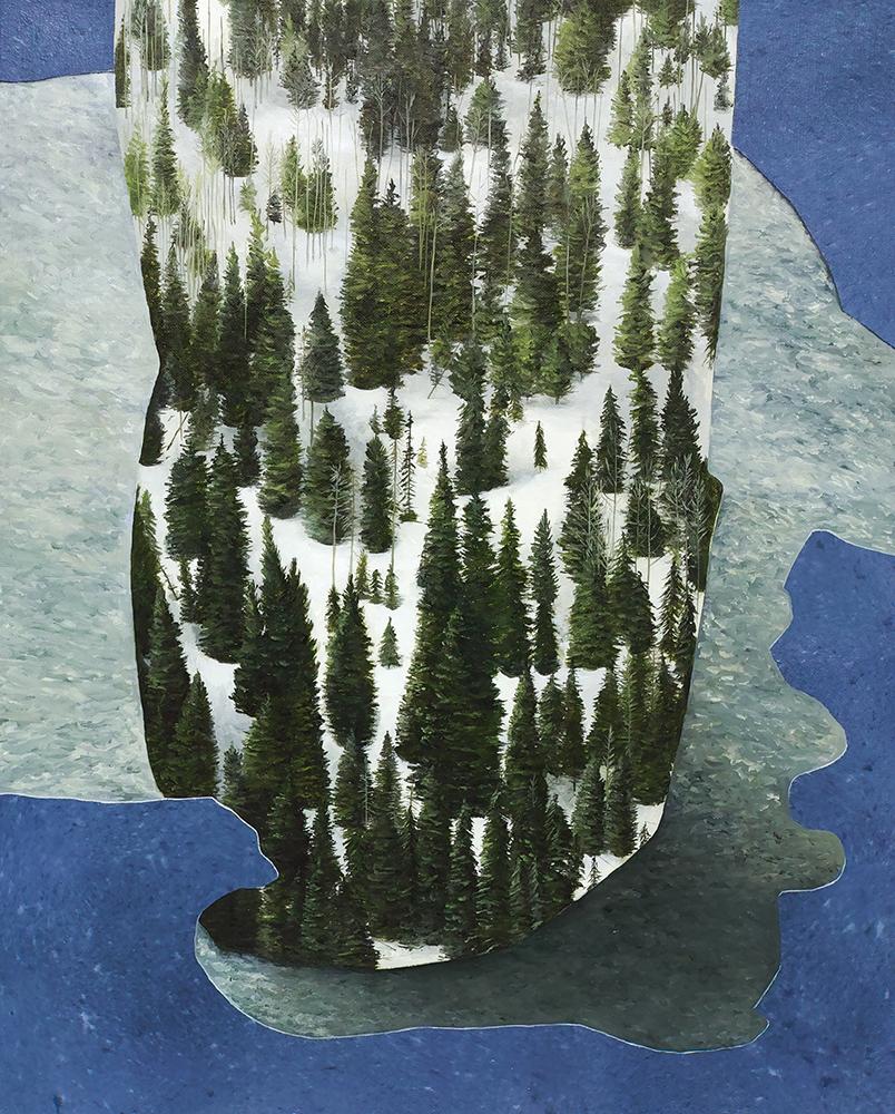 ALICE WORMALD  Tree Place 2017 oil on linen 53 × 43 cm (framed)