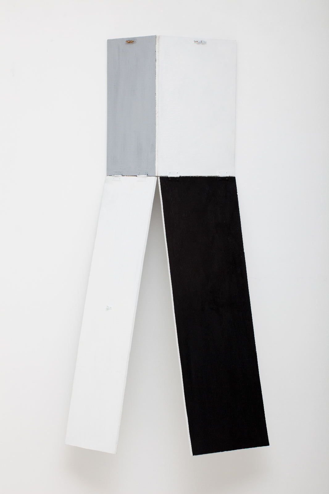 SIMON BLAU  Hinge Drop  2010 gesso on plywood dimensions variable