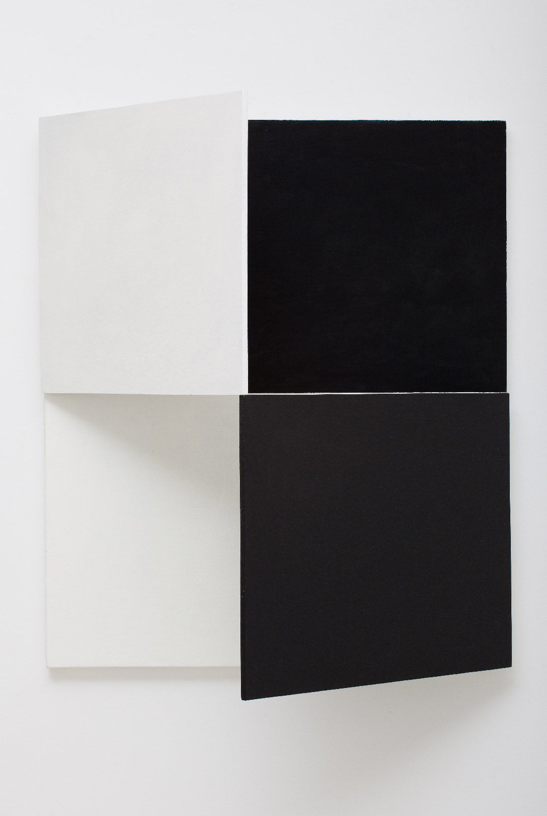 SIMON BLAU  Fold Up  2010 oil and acrylic with canvas and plywood with hinges dimensions variable