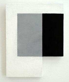 SIMON BLAU  Bottom Cut 2007 acrylic on plywood 25.5 ×19.5 cm