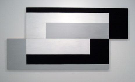 SIMON BLAU   Continental Shift  2007  acrylic on panel 124 ×243 cm