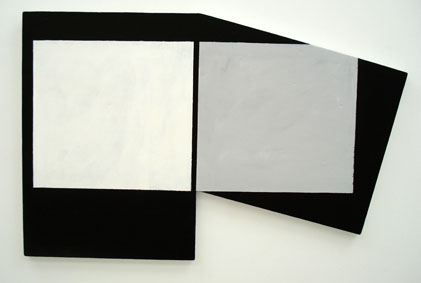 SIMON BLAU   Minus 2007 acrylic on plywood 45 ×70.5 cm