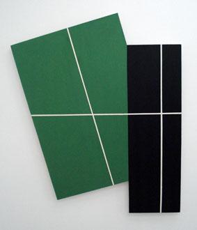 SIMON BLAU    Pa ckage  3 2008  acrylic on plywood 115 ×96.5 cm