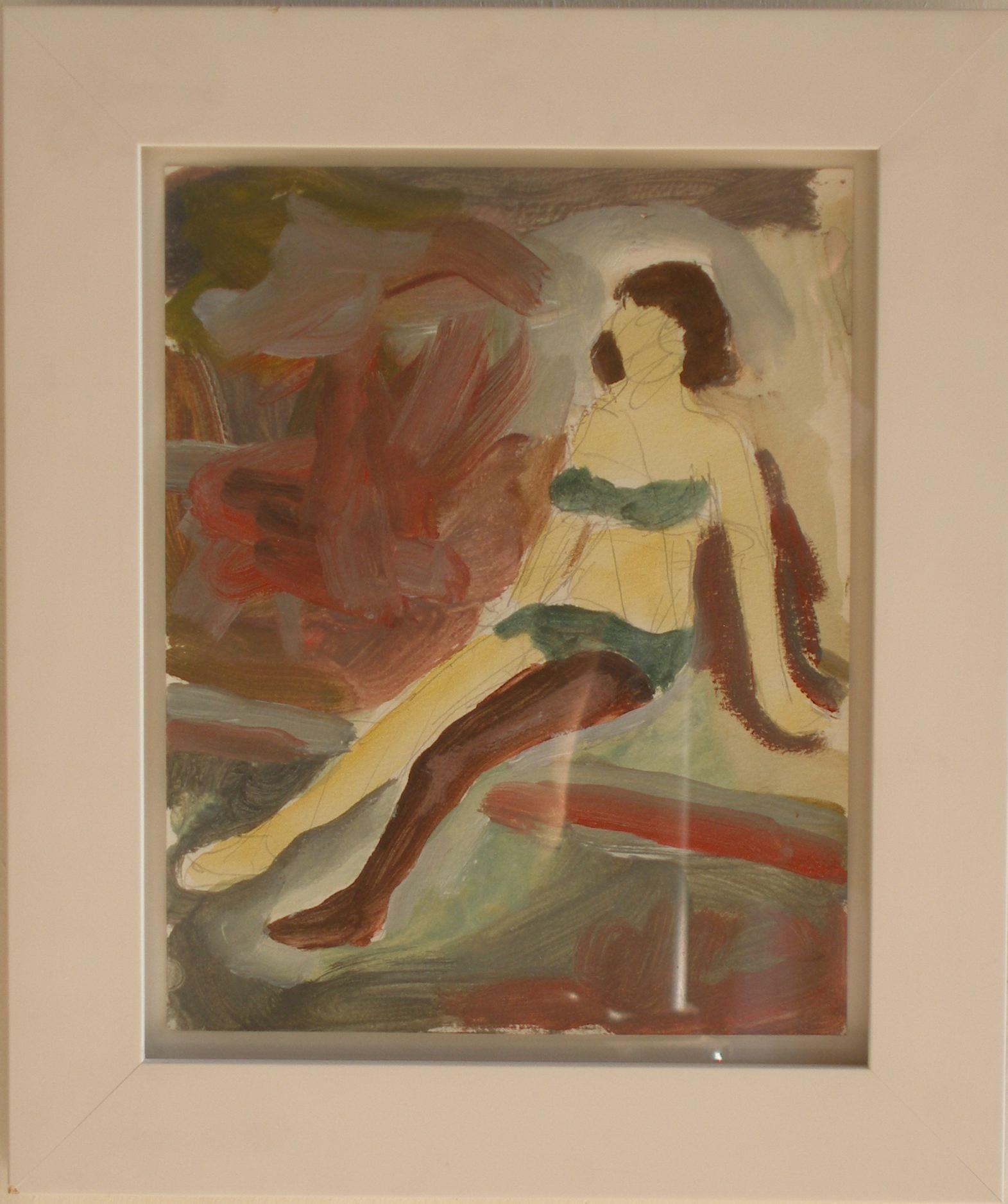 SIMON BLAU Dark Leg / Light Leg 2004 acrylic on paper 25 × 19.7 cm