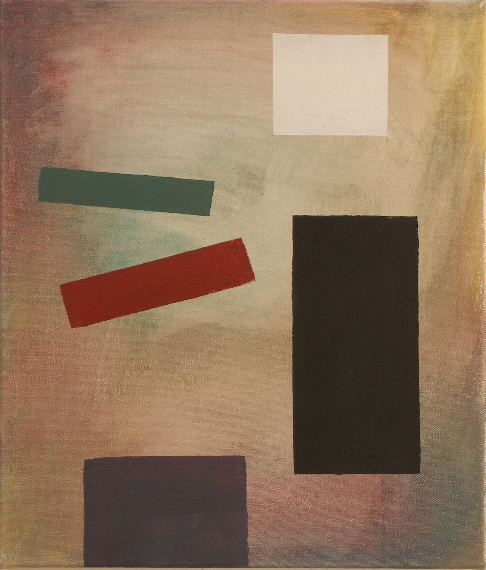 SIMON BLAU How to Sit 2007  acrylic on canvas 35.5 × 30.5cm