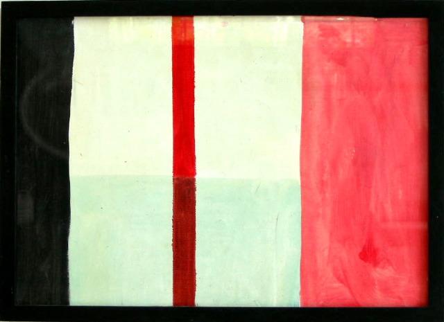 SIMON BLAU Frame – Painting 2006  acrylic on canvas 27.5 × 39 cm