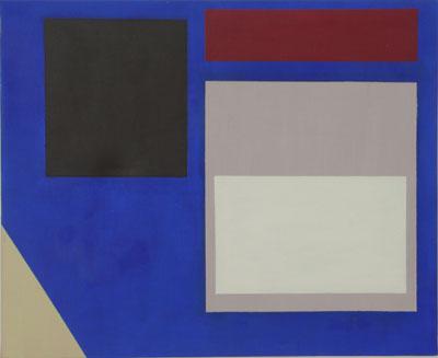 SIMON BLAU   Blue Wall  2005 acrylic on canvas 45.5 × 56 cm