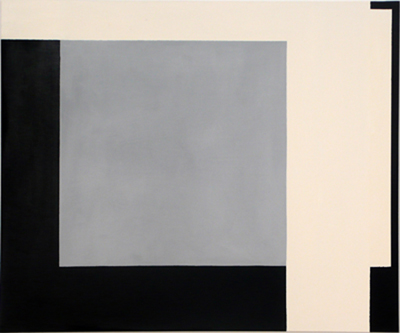 SIMON BLAU   Overlap  2006 enamel & acrylic on polyester 101 × 121 cm