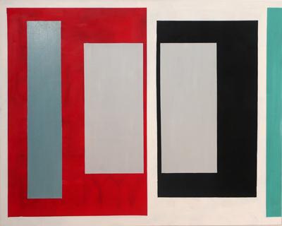 SIMON BLAU   Inner Grey  2005 oil on canvas 122 × 152 cm