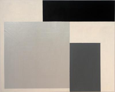 SIMON BLAU   Grey Square  2006 oil & enamel on canvas 122 × 152 cm