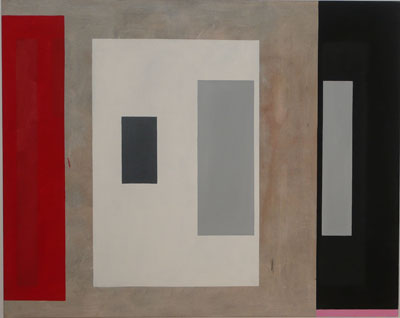 SIMON BLAU   Red Left  2005 oil on canvas 122 × 152 cm