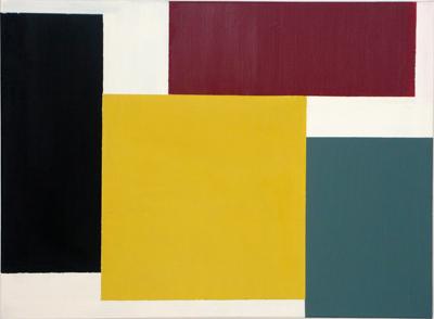 SIMON BLAU   Yellow Square  2006 oil & enamel on polyester 56 × 76 cm