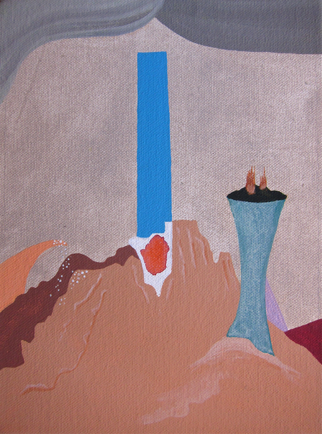 MICHELLE HANLIN  In the Heart of the Cave  2012 acrylic on canvas on board 21 × 16 cm
