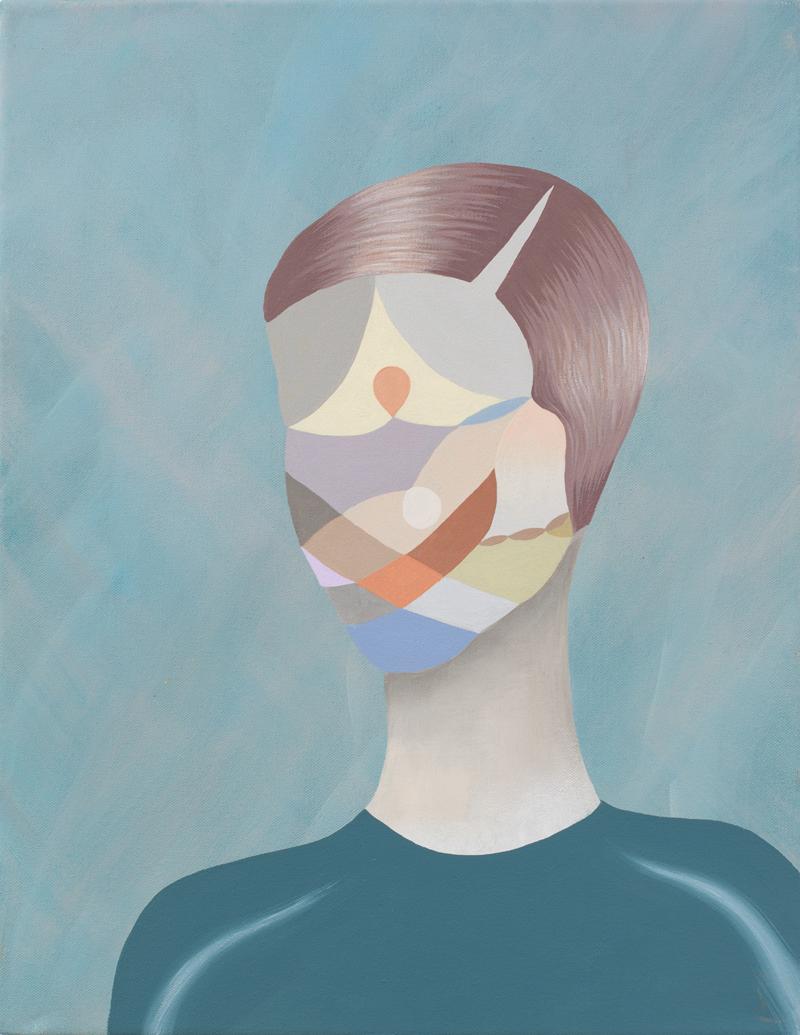MICHELLE HANLIN  Shapely Man  2011 acrylic on canvas 45.5 ×35.5 cm