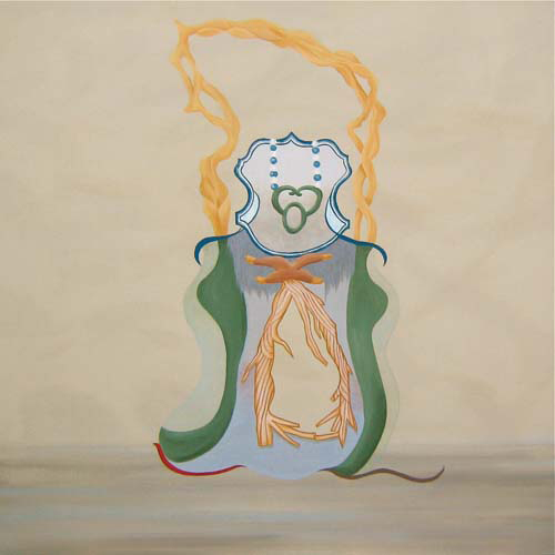 MICHELLE HANLIN  Outdoors Bust 2010                                                                                               acrylic on canvas 122 × 122 cm