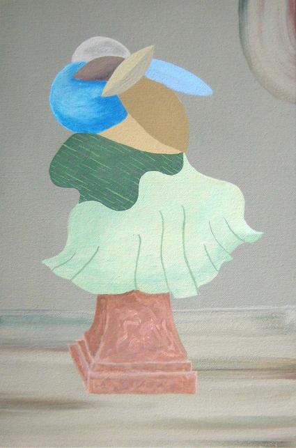 MICHELLE HANLIN  Four Busts 1 2010  acrylic on canvas 20 ×30 cm