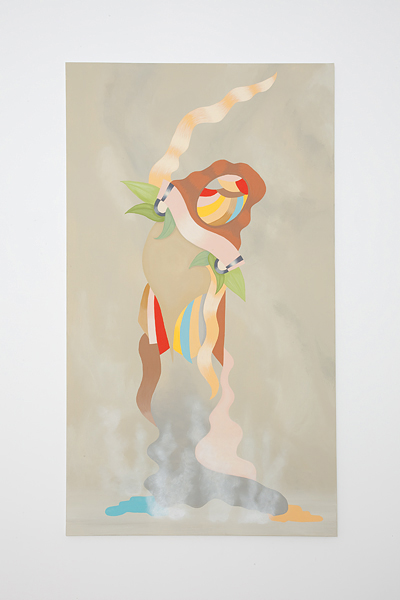 MICHELLE HANLIN  Deco Tropicana 2010                                                                                    acrylic on canvas 122 × 212 cm