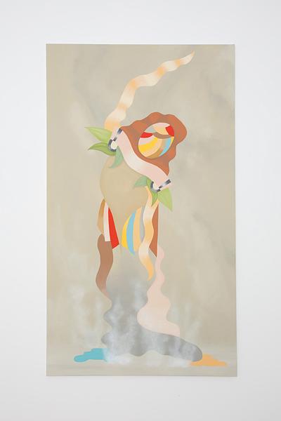 MICHELLE HANLIN  Deco Tropicana 2010                                           acrylic on canvas 122 ×212 cm