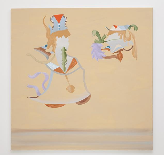 MICHELLE HANLIN  Figure Considering a Head 2010                                      acrylic on canvas 137 ×139 cm